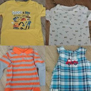 Boys 24 month Bundle Onesies, Shortalls, Tee Shirt